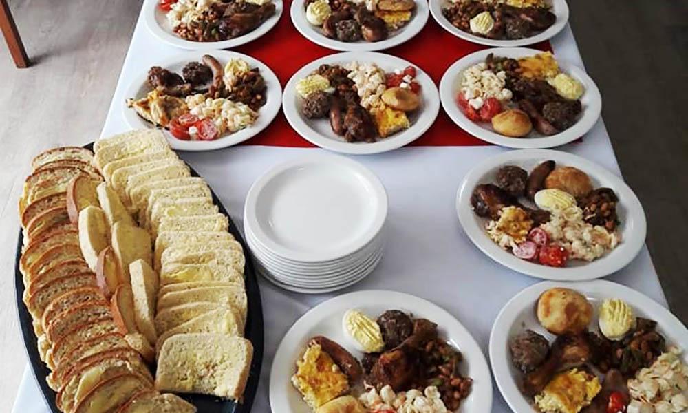 Delicious food prepared for the Valentine's Picnic